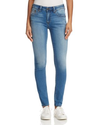 Jennie Curvy Skinny Jeans In Authentic Indigo in Blue
