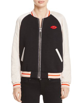 SCOTCH & SODA Quilted Sleeve Bomber Jacket in Combo A