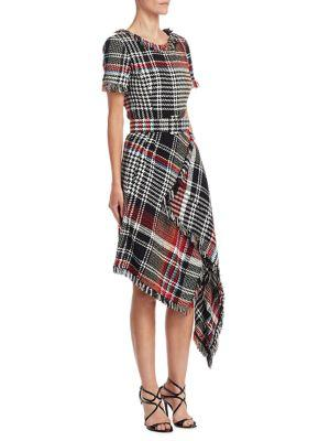 checked dress - Black Oscar De La Renta Low Price Fee Shipping For Sale 4bbrUP14Y5