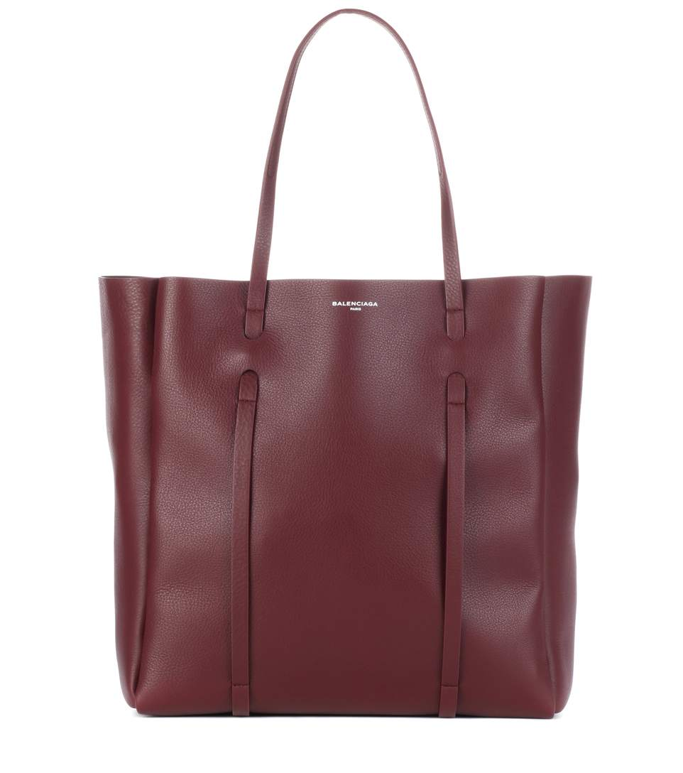 Leather Shopper, Red