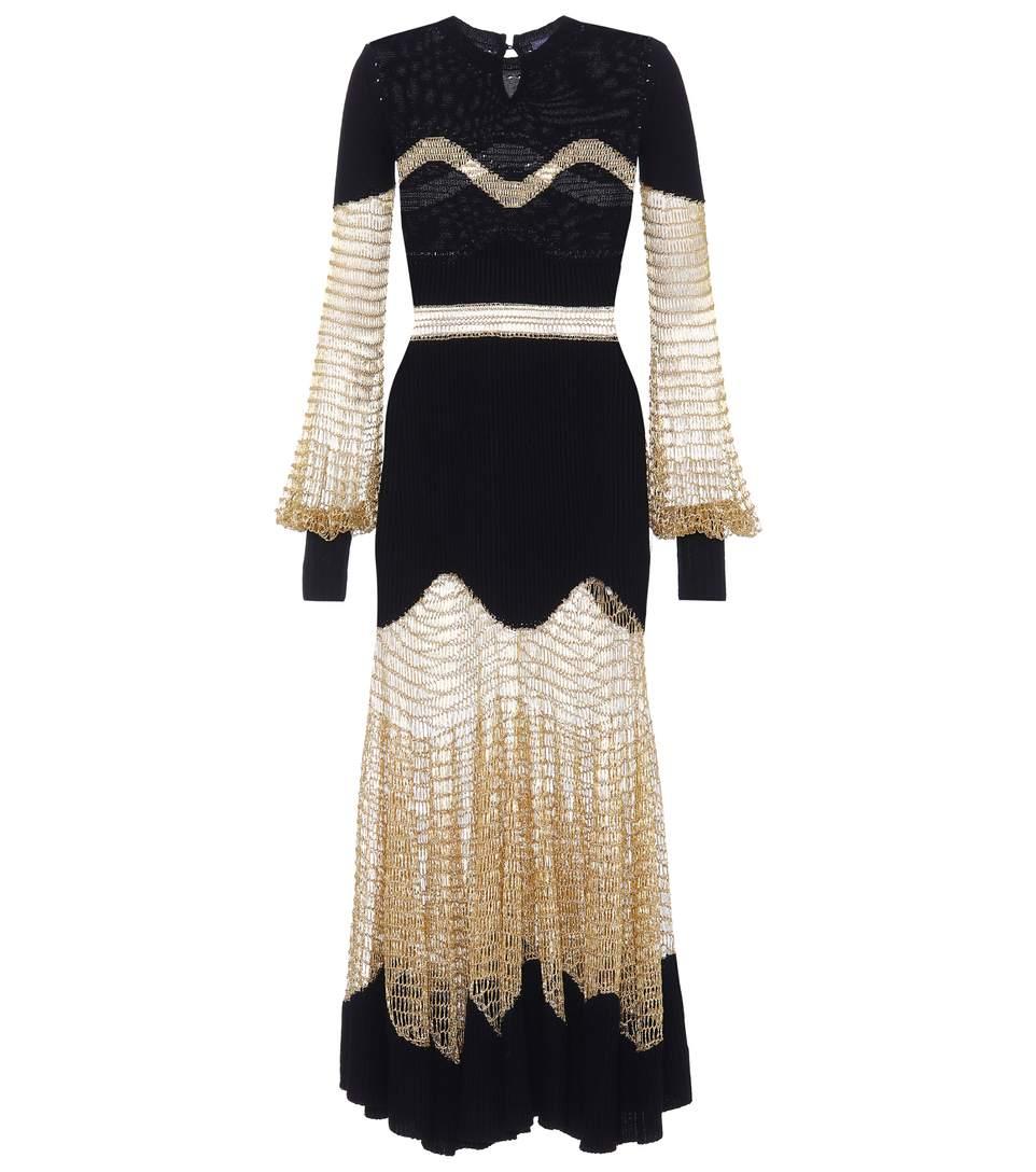 Alexander McQueen Wool Knit Dress Supply Sale Online GPJUZ