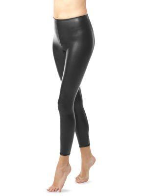 Perfect Control Faux Leather Leggings, 000000