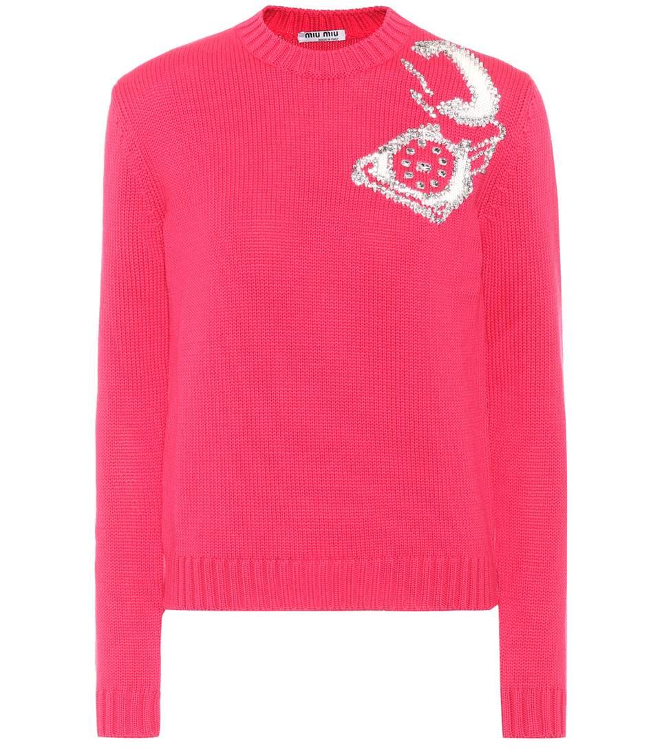 Pink Telephone Crewneck Sweater