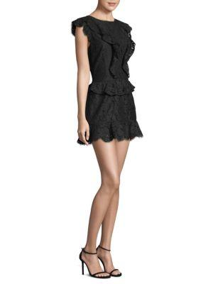 Joie Woman Acostas Ruffle-trimmed Corded Lace Mini Dress Black Size 10 Joie Comfortable Discount Sale Online Enjoy Discount Latest 8DsU51U