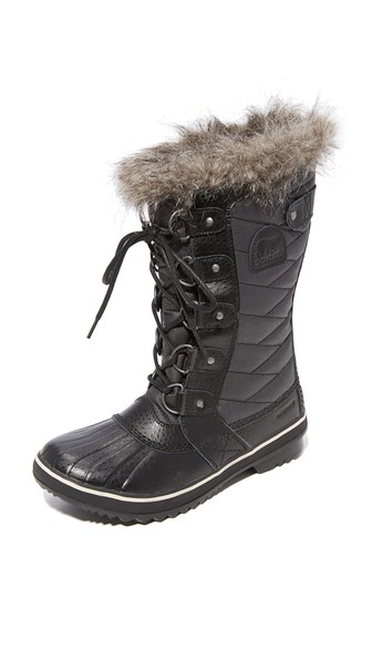 'Tofino Ii' Faux Fur Lined Waterproof Boot, Curry