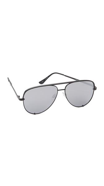 X Desi Perkins High Key 62Mm Aviator Sunglasses - Black/ Silver Mirror