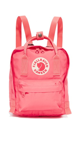 FJALL RAVEN Kanken Mini Backpack in Peach Pink