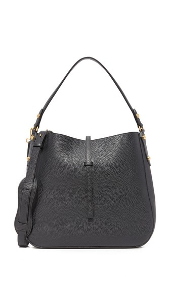 ANNABEL INGALL Brooke Leather Hobo in Black