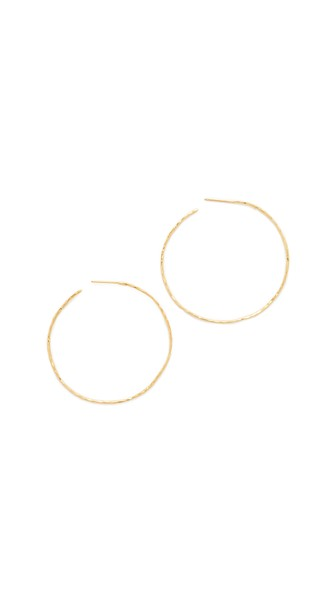 Taner Extra Large Hoop Earrings in Gold