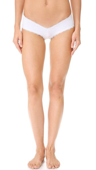 LES COQUINES Dominique Cheeky Panties in Blanc