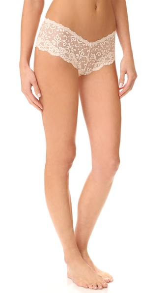 LES COQUINES Evi Lace Cheeky Briefs in Coquette