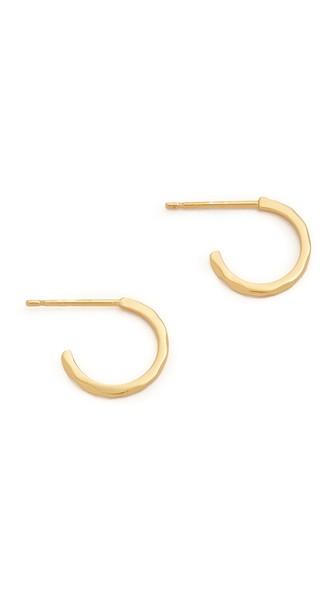 Taner Bar Mini Hoop Earrings, Gold