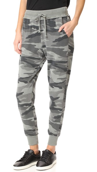 Camo Active Jogging Pants, Military Olive