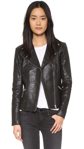 VEDA Dallas Orion Leather Jacket - 100% Exclusive in Black