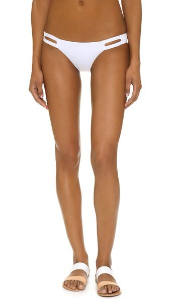 VITAMIN A Neutra Hipster Bikini Bottoms in White