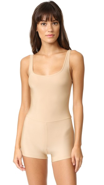 ONLY HEARTS Second Skins Tank John Romper in Nude