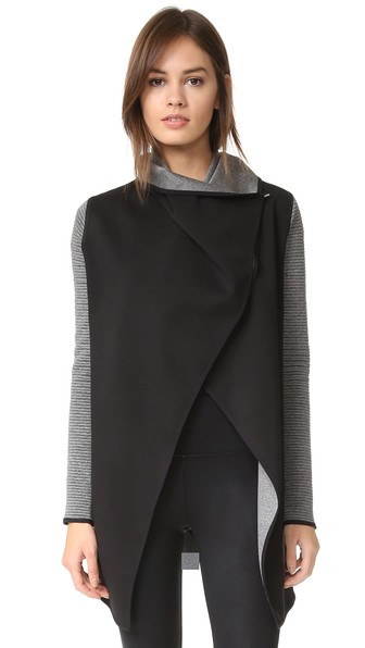 MICHI Dusk Wrap Jacket in Grey/Black
