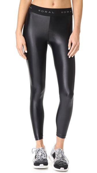 KORAL Aden Mid-Rise Figure-Forming Leggings in Black