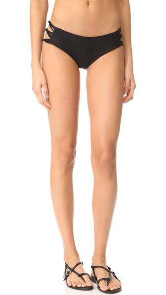 MIKOH Barcelona Full Coverage String Side Bikini Bottom in Night
