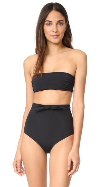 Abigail Bandeau Bikini Top in Black