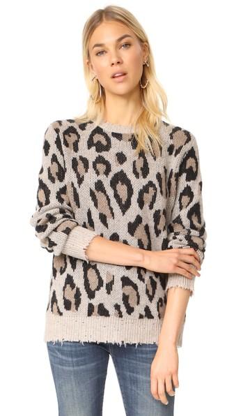 Leopard-Print Cashmere Sweater
