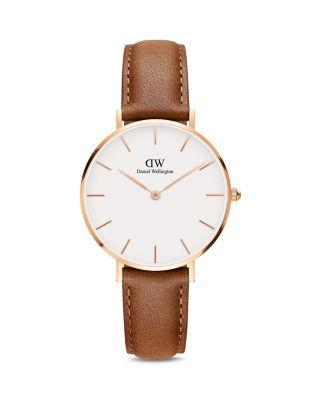 DANIEL WELLINGTON 32Mm Classic Petite Durham Watch, White/Rose Golden/Brown in Light Brown/ White/ Rose Gold