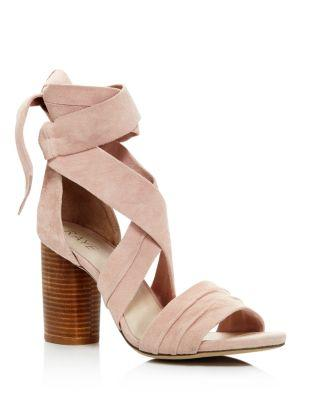 RAYE Mia Ankle Wrap High-Heel Sandals - 100% Exclusive in Blush