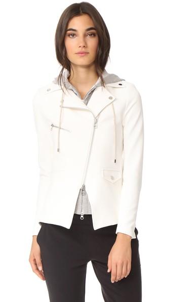 Scuba Hadley Jacket With Grey Dickey, White/Grey