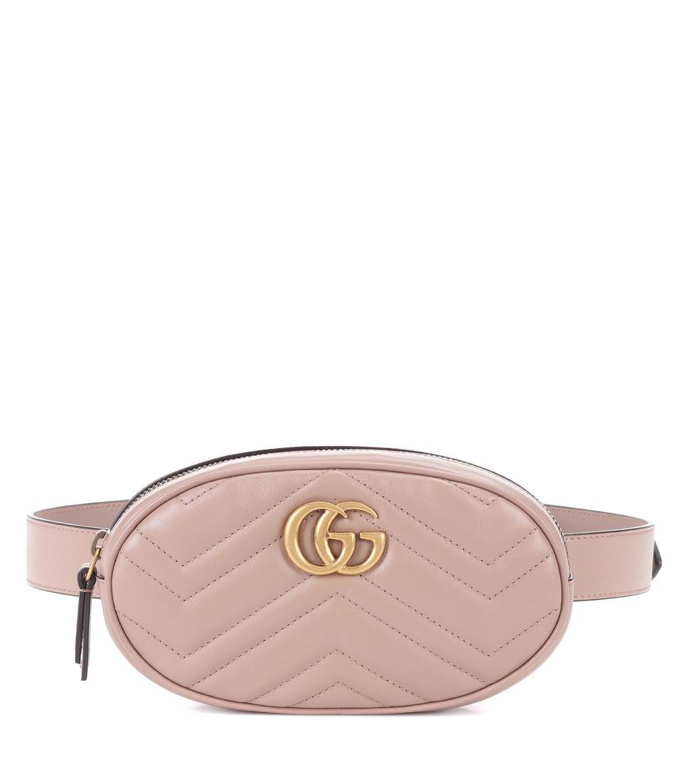 Gg Marmont 2.0 Matelasse Leather Belt Bag - Beige in Neutrals