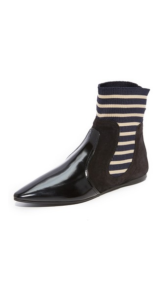 Acne Amalee striped-insert leather ankle boots Sale Inexpensive 3HI5LUzt