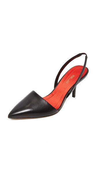 Mortelle Slingback Leather Pumps, Black