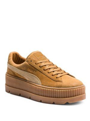 Fenty Puma X Rihanna Women'S Suede Cleated Platform Sneakers, Brown