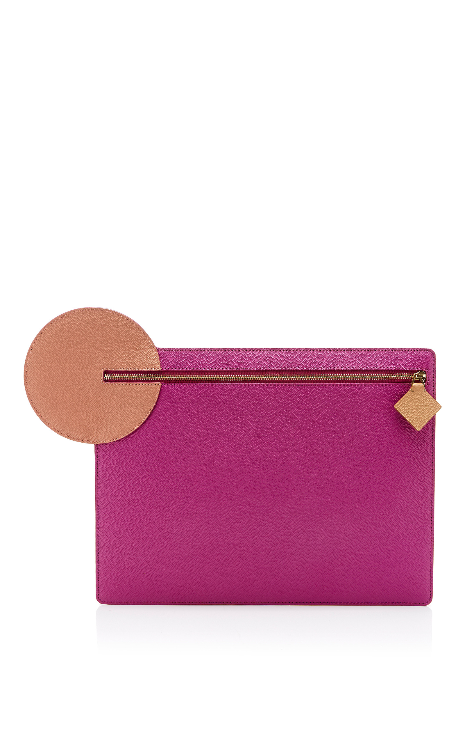 ROKSANDA Alpin Pebbled-Leather Clutch in Additional Details Will Be Added When The Item Arrives In Stock
