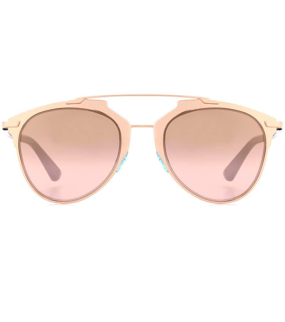Diorreflected Aviator Sunglasses in Gold