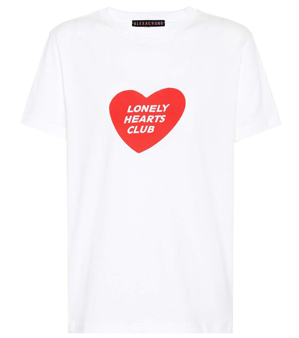 Alexa Chung Woman Printed Cotton-jersey T-shirt White Size XS AlexaChung Outlet Low Cost Discount Fast Delivery Collections Cheap Online wl8TP5n4HX