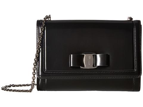 SALVATORE FERRAGAMO Glossy Vara Minibag_Donotuse in Black