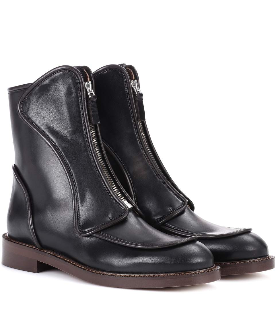 Marni Leather Front Zip boots
