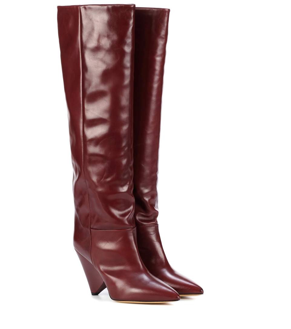Exclusive To Mytheresa - Lokyo Leather Knee-High Boots in Red