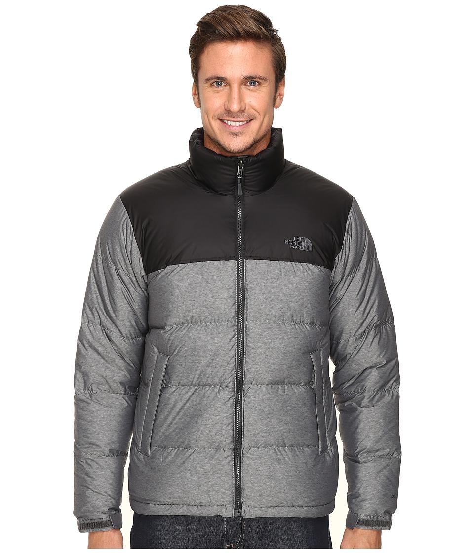 The North Face Nuptse Jacket Tnf Medium Grey Heather Tnf Black