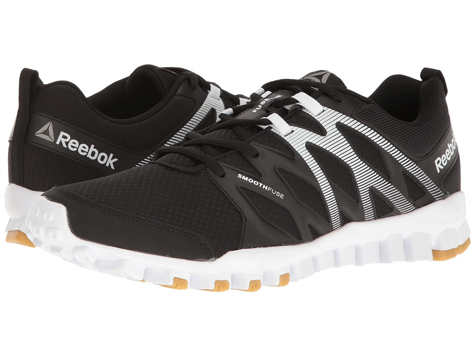 Reebok - Realflex Train 4.0 (Black White  Rubber Gum Pewter) Men S. SIZE    FIT INFORMATION c815ec2c1d74