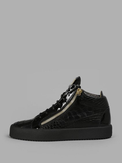 Logoball Croc-effect Leather High-top Sneakers - BlackGiuseppe Zanotti 87WLkd