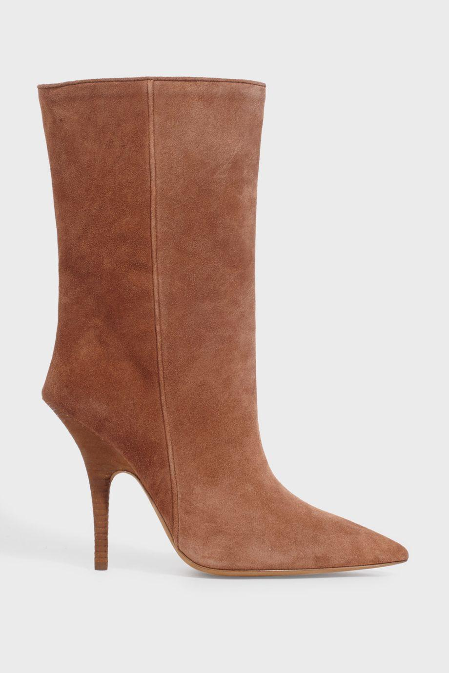 Suede Ankle Boots, Brown