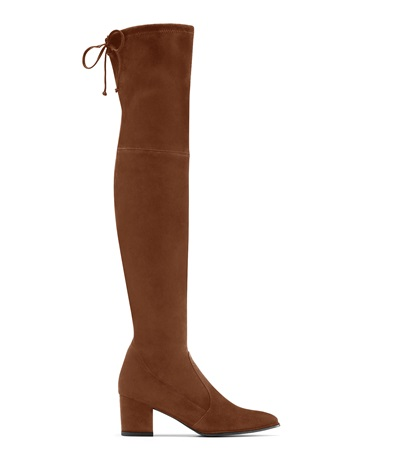 The Thighland Boot, Walnut Suede