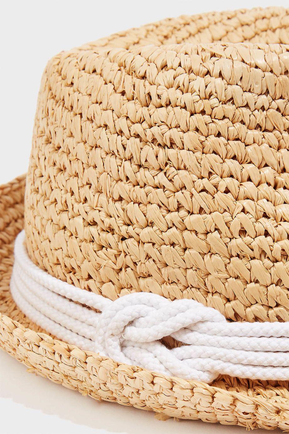 Tracy Watts Hitch Raffia Straw Fedora In Sand  74d0036ff1a