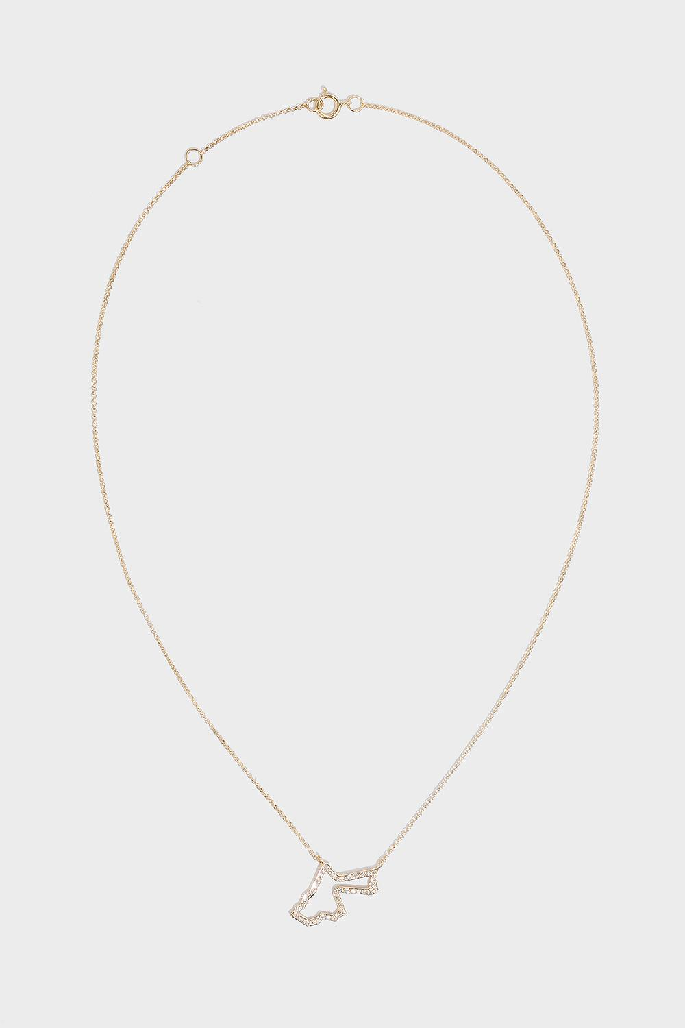 TIBA Jordan Map Outline Necklace, Size Os, Women, Y Gold