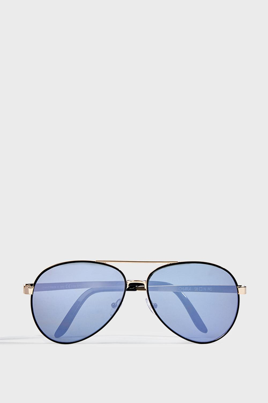 SPEKTRE SUNGLASSES Chiara Metal Aviator Sunglasses, Os in Black