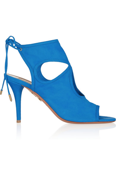 Sexy Thing Suede Cutout Sandal, Mondrian Blue