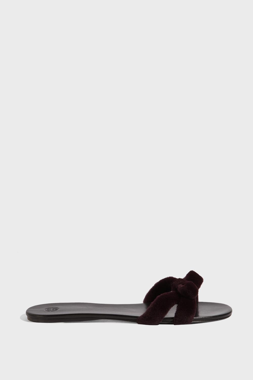 Hollie Mink Slides, Size It42, Women, Purple