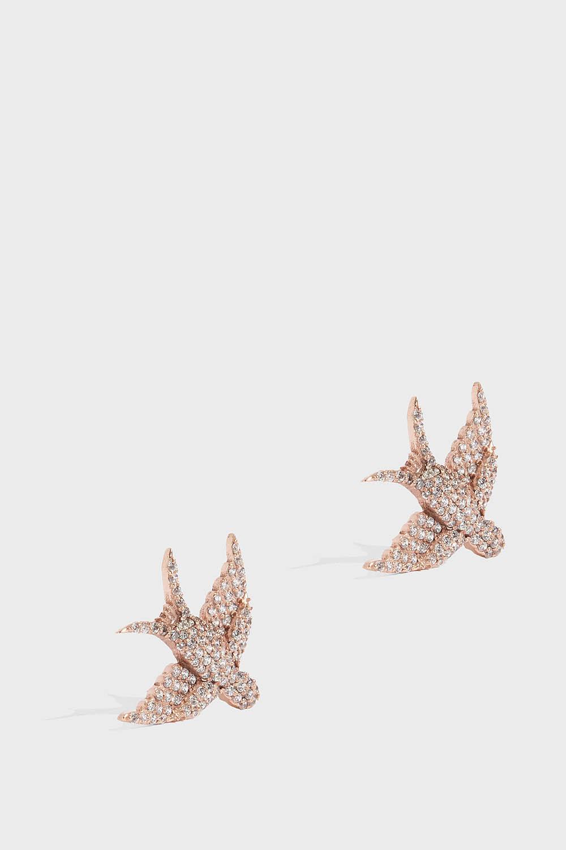 MAHA LOZI Petite Bird Earrings, Size Os, Women, R Gold