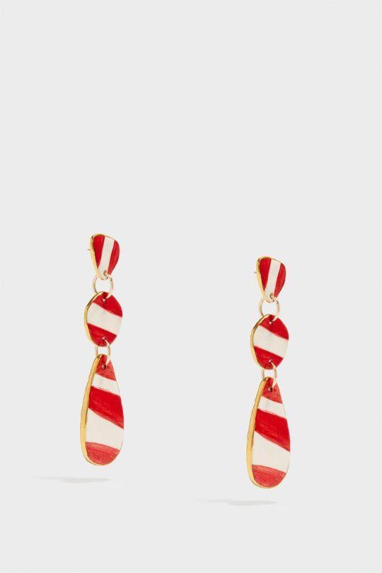 SONIA BOYAJIAN Buren Gold-Tone Ceramic Earrings, Size Os, Women